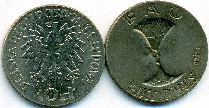 Poland 1971 KM# Pr185 10 Złotych FAO UNC