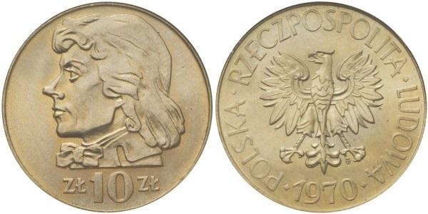 Poland 1970 Y# 50a 10 Zlotych