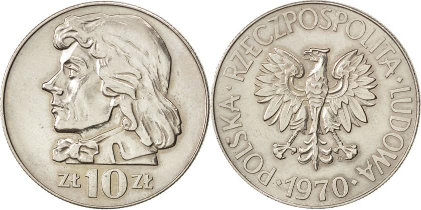 Poland 1970 Y# 50a 10 Zlotych AU-