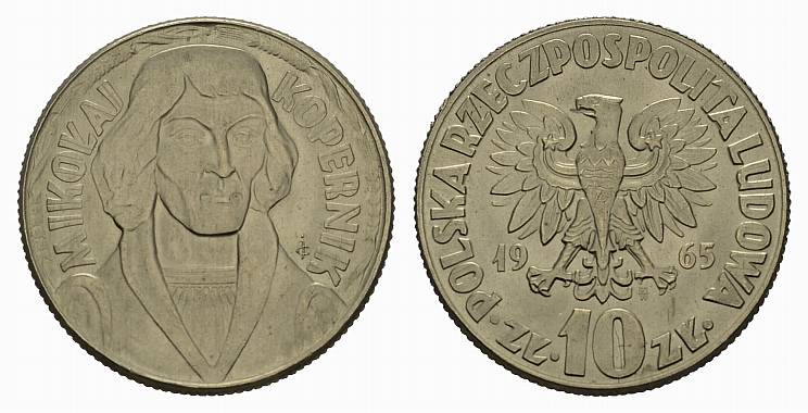 Poland 1965 Y# 51 10 Zlotych