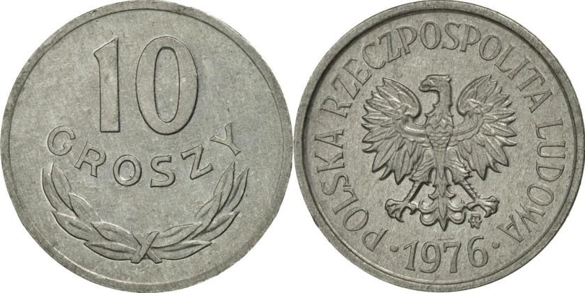 Poland 1976 Y# AA47 10 Groszy
