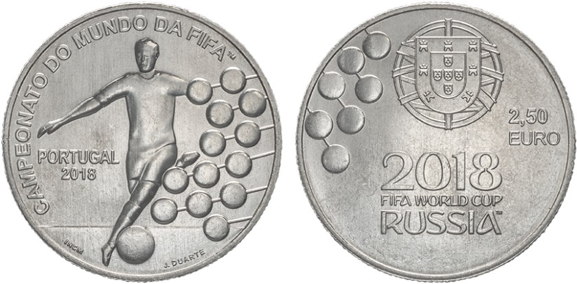 Portugal 2018 2.5 Euro FIFA World Cup UNC