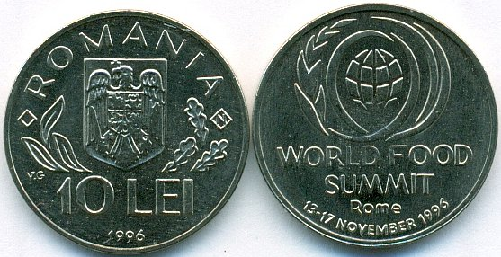Romania 1996 KM# 126 10 Lei FAO UNC