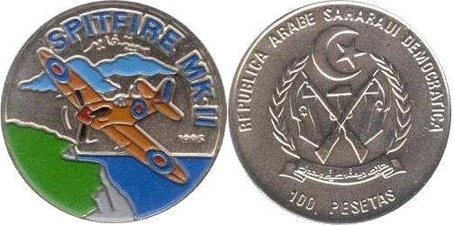 Sahrawi Arab Democratic Republic 1995 KM# 23 100 Pesetas UNC