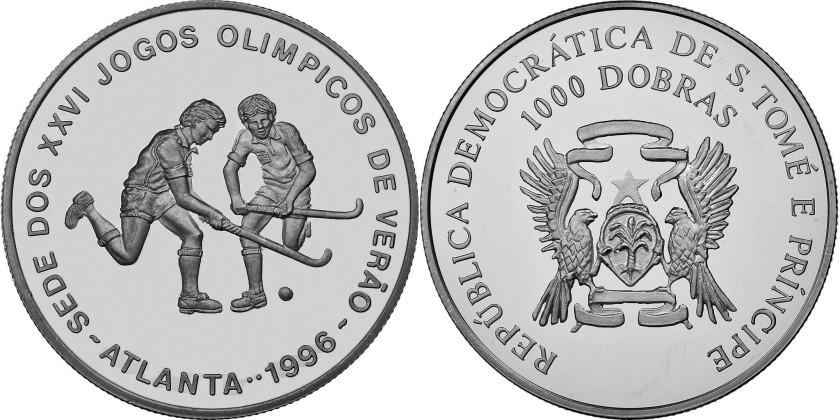 Sao Tome and Principe 1996 KM# 60 1000 Dobras Proof-like
