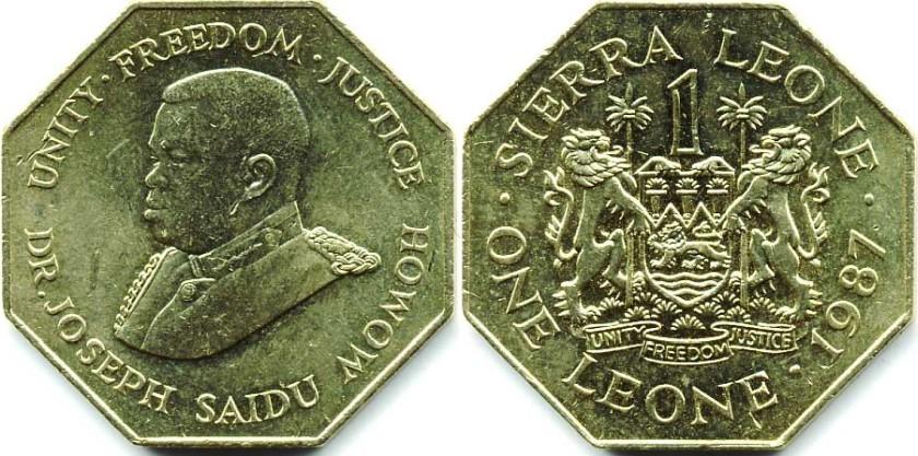 Sierra Leone 1987 KM# 43 1 Leone UNC