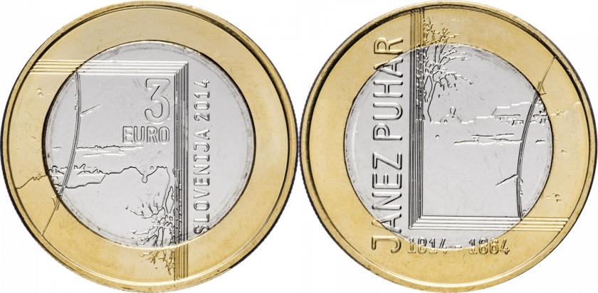 Slovenia 2014 3 Euro UNC