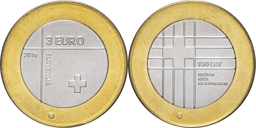 Slovenia 2016 3 Euro UNC