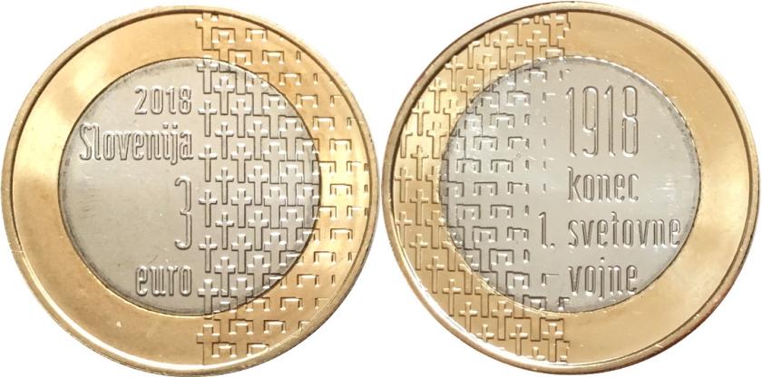 Slovenia 2018 3 Euro UNC