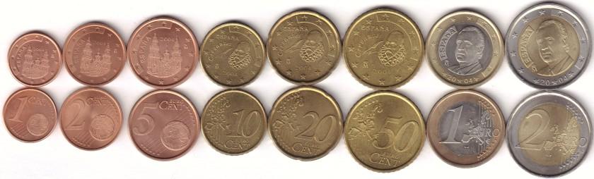 Spain 2004 Euro coins set UNC