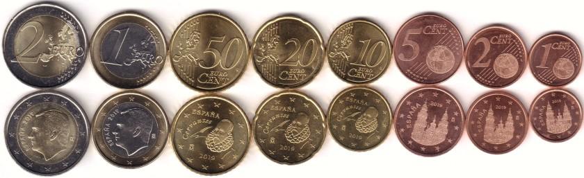 Spain 2019 Euro coins set UNC