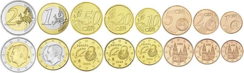 Spain 2020 Euro coins set UNC