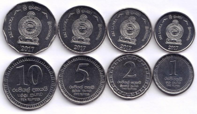 Sri Lanka 2017 4 coins UNC