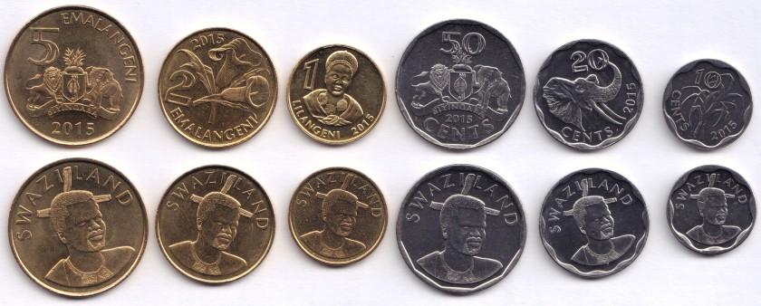 Swaziland 2015 6 coins UNC