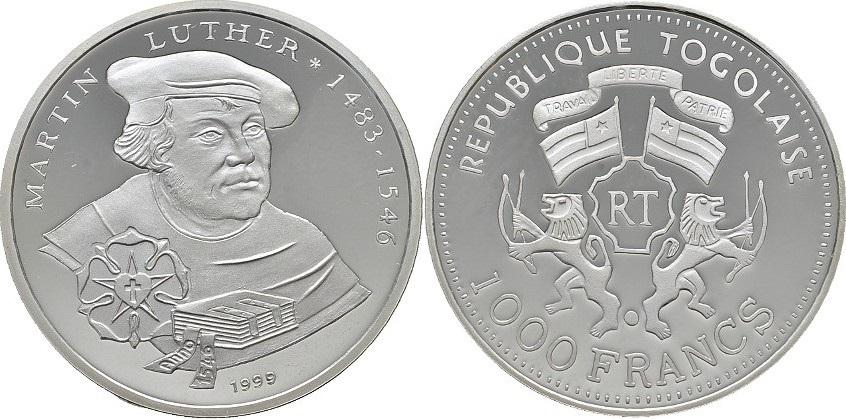 Togo 1999 KM# 16 1000 Francs Proof