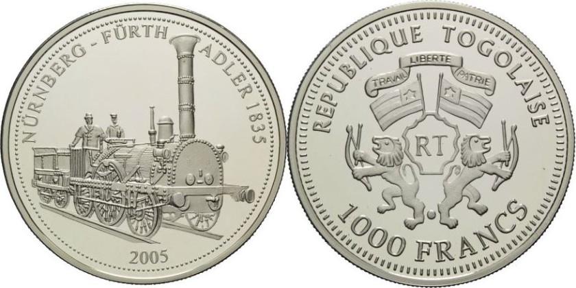 Togo 2005 KM# 45 1000 Francs Proof