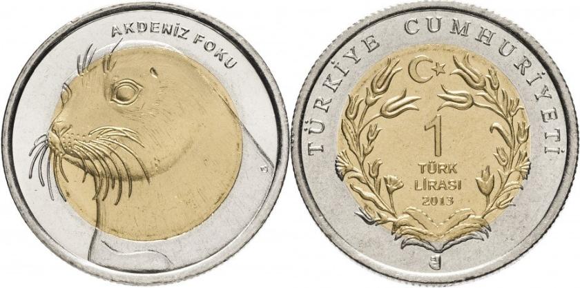 Turkey 2013 1 Lira Seal UNC