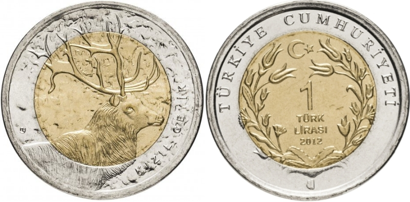 Turkey 2012 KM# 1283 1 Lira UNC