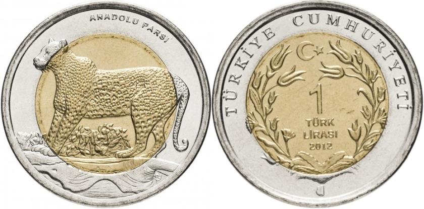 Turkey 2012 KM# 1284 1 Lira UNC