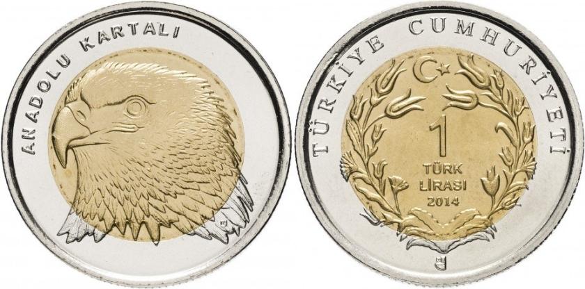Turkey 2014 1 Lira Eagle UNC