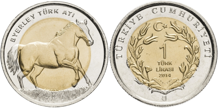 Turkey 2014 1 Lira Horse UNC