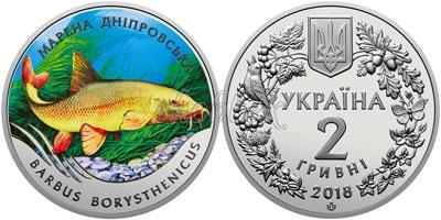 Ukraine 2018 The Dnieper Barbel Nickel silver