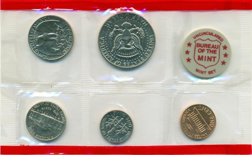 United States 1972 D 5 coins UNC