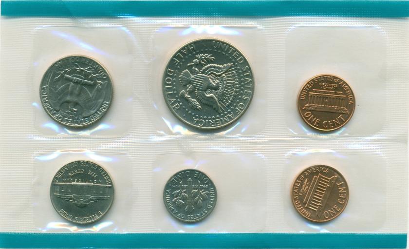 United States 1972 P 5 coins UNC