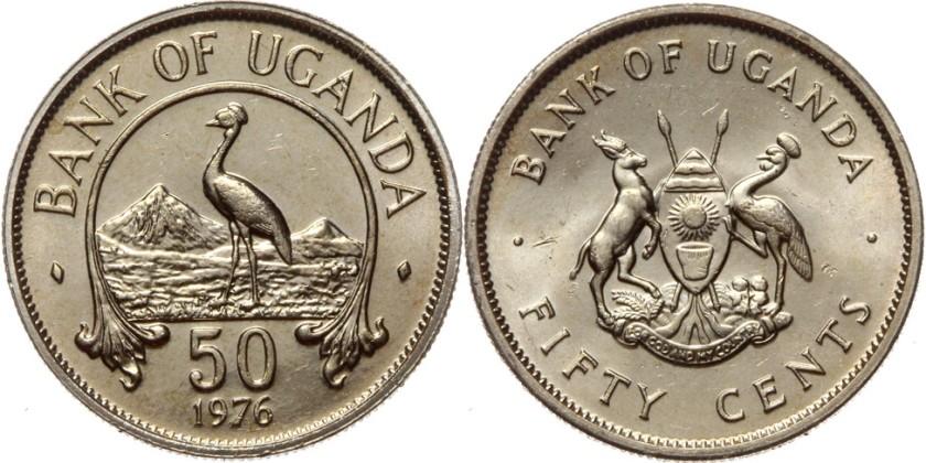 Uganda 1976 KM# 4a 50 Cents UNC