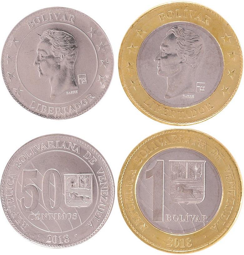 Venezuela 2018 2 coins UNC