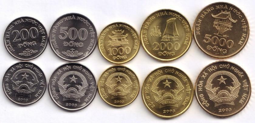 Vietnam 2003 5 coins UNC