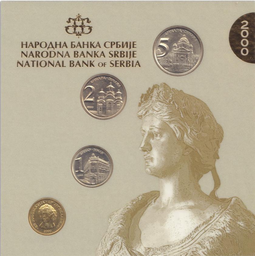 Yugoslavia 2000 KM# 179 - 182 Mint set UNC