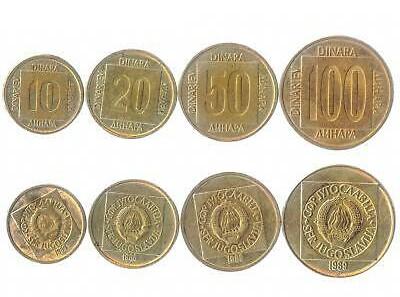 Yugoslavia 1988 - 1989 KM# 131-134 4 coins UNC