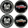 Suriname 1996 KM# 46-47 2 coins Proof